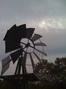 Winds of autumn spinning the mill