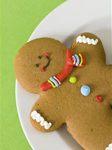 Gingerbread guy, chillin' out.