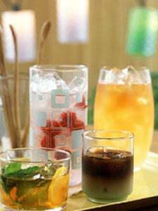 Chasing the heat with gourmet iced tea.