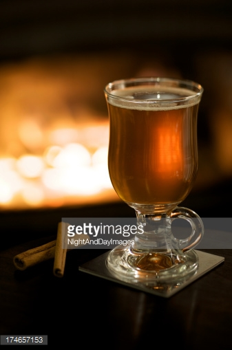 Apple and Spice Tea by the fire